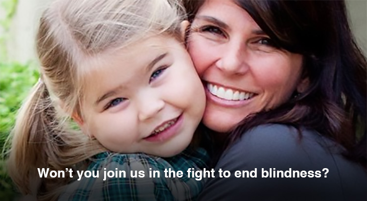 Won't you join us in the fight to end blindness?